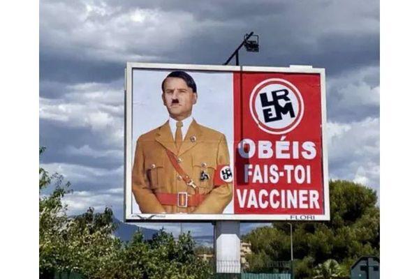 L'affiche du Var, sur laquelle Emmanuel Macron est facilement identifiable