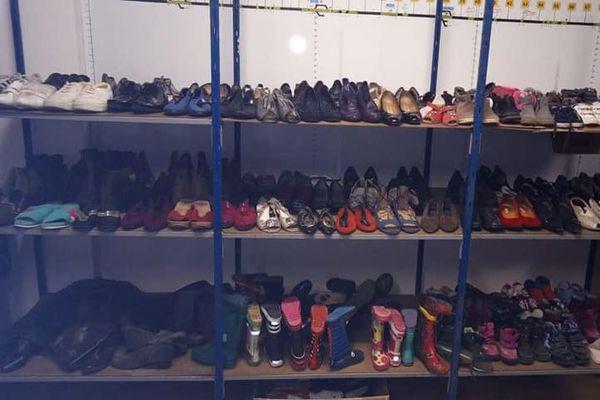 Les chaussures à récupérer si besoin.