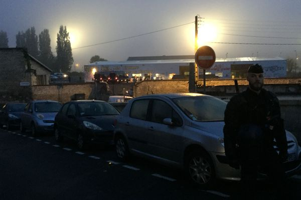 Evacuation du squatt du marais à Caen