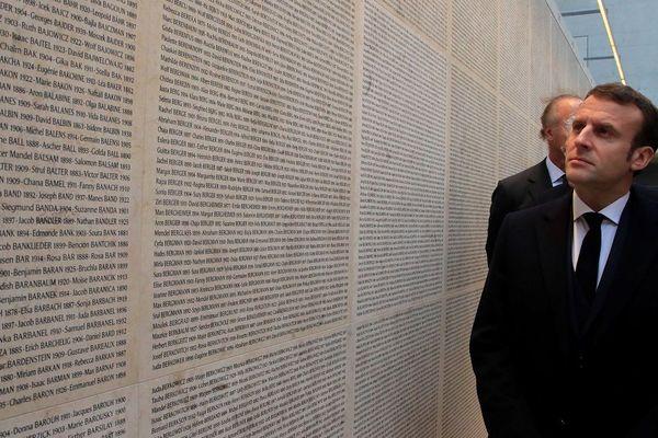 Le Mur des Noms rénové a été inauguré ce matin par le chef de l'Etat.