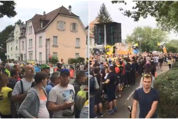 En 2014, 70.000 personnes avaient assisté à l'étape du Tour de France en Mulhouse.