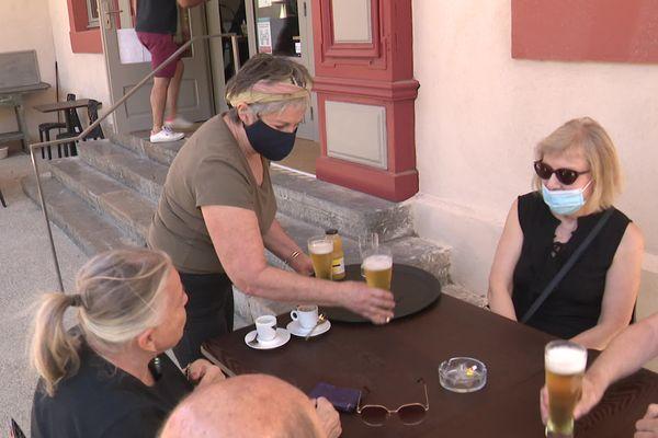 Le Café de la Terrasse, à Capendu, rouvre ses portes après plusieurs années de fermeture. - Capendu (Aude) - 22 juin 2021.