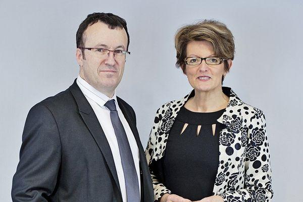 Le binôme Fabrice Chollet (DVG) et Béatrice Damade (UDI), candidat aux élections départementales dans le canton de Saint-Martin-d'Auxigny (Indre).