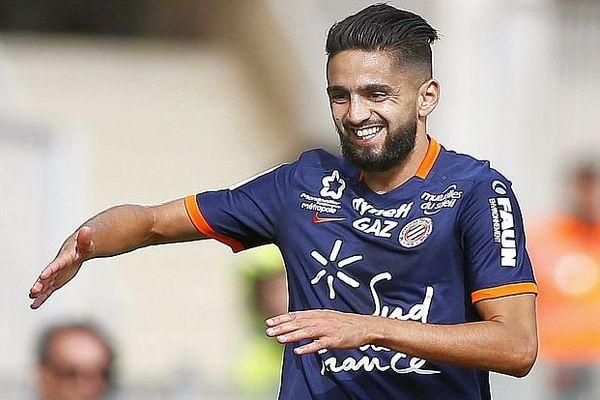 Montpellier - Ryad Boudebouz buteur contre Nice - 18 septembre 2016.