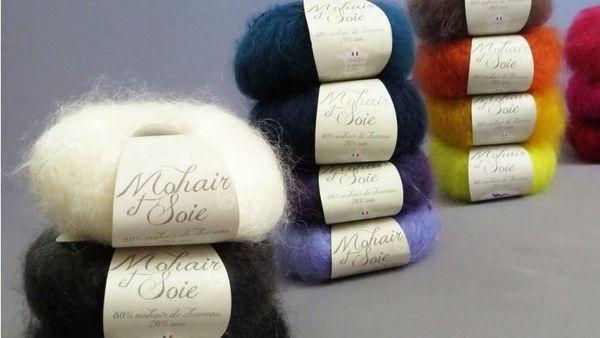 pelotes de laine de mohair