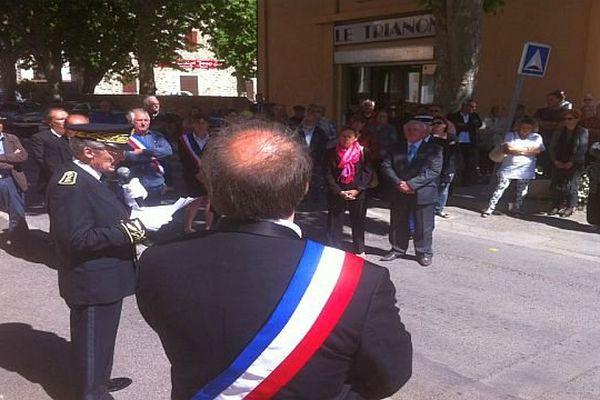 Saint-Jean-de-Valériscle (Gard) - hommage à Geneviève de Gaulle-Anthonioz - 27 mai 2015.
