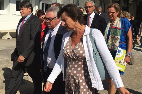 Clotilde Valter, secrétaire d'Etat en charge de la formation professionnelle et de l'aprentissage, en visite à Auxerre jeudi 8 septembre 2016.