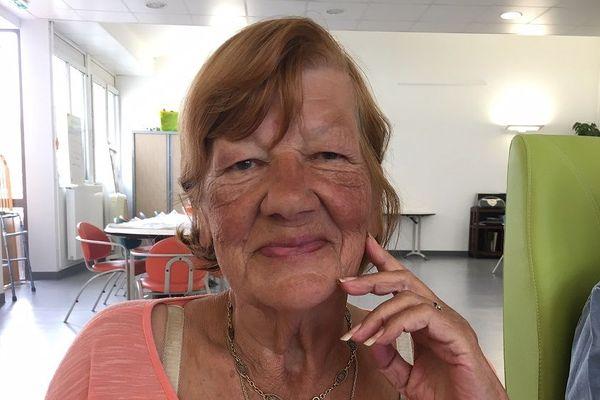 """Colette, 78 ans résidente de l'Ehpad de Pompey (Meurthe-et-Moselle) et actrice du clip """"dans nos yeux"""""""