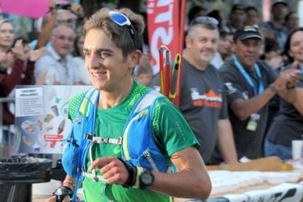 Xavier Thévenard, vainqueur de l'Ultra trail Mont Blanc 2015