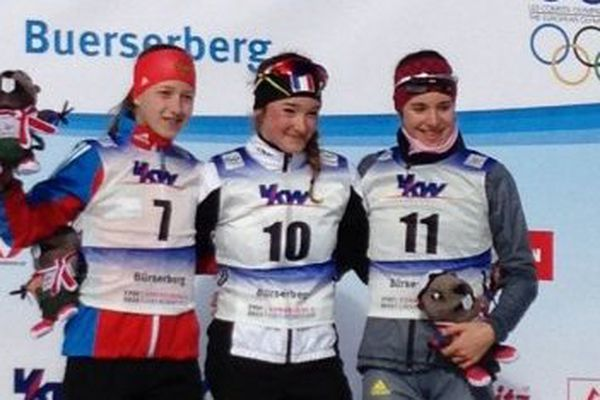 Dossard n°10, Lou Jeanmonnot remporte la médaille d'or de la poursuite de biathlon