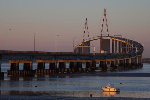Le Pont de Saint-Nazaire fête ses 40 ans en 2015 (Loire Atlantique).