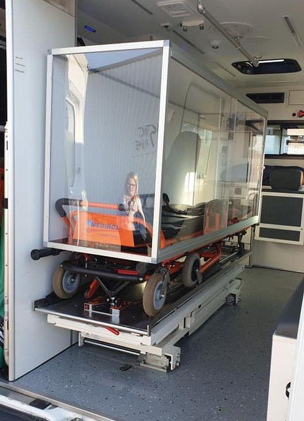 Des caissons pour permettre aux ambulanciers de transporter les personnes infectées par le Coronavirus en toute sécurité - 25/03/20