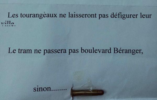 La lettre reçue par des élus tourangeaux.