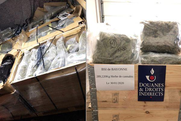 Le cannabis était dissimulé dans des caisses en bois.