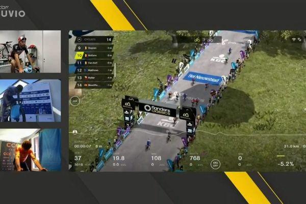 Beaucoup de cyclistes professionnels se sont entrainés sur des courses virtuelles pendant le premier confinement