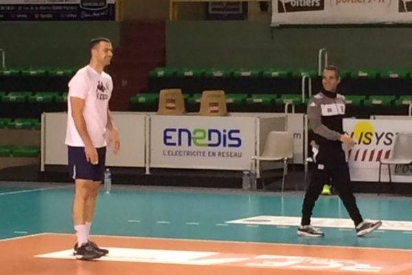 Bozidar Cuk à l'entraînement dans a salle Lawson-Body à Poitiers.