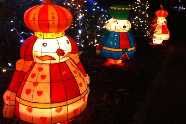 Le sentier des lanternes de Noël - Metz