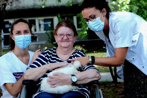 Pour le personnel de l'hôpital et les patient, cette venue des animaux de la ferme est une réussite.