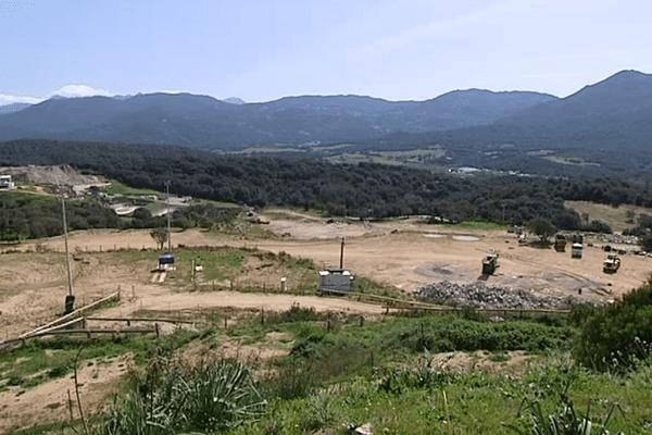 L'endroit où le projet pourrait être installé, à Viggianello, près de Propriano.