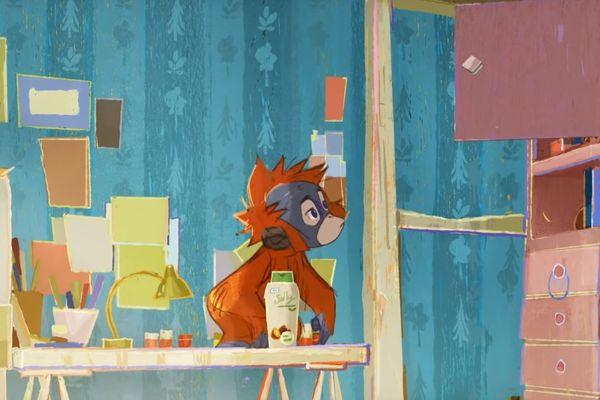 """Un extrait de la publicité """"Un orang-outan dans ma chambre"""", censurée à la télévision."""