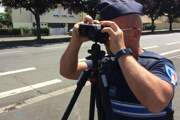 Les policiers municipaux niortais vont procéder à des contrôles de vitesse avec un radar dernier cri, Le truspeed.