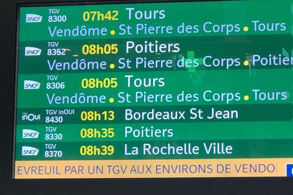 De nombreux trains ont été retardés à cause de l'incident.