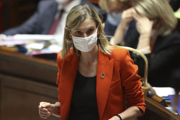 Agnès Pannier-Runacher, ministre déléguée à l'Industrie, le 22 septembre à l'Assemblée nationale.