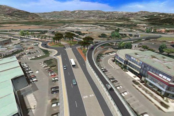 A Mandelieu, une nouvelle bretelle d'accès autoroutière depuis la RD 6007 en direction de Nice va être réalisée afin de délester une partie du trafic.