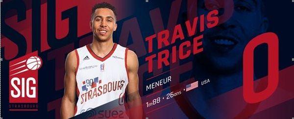 Travis Trice rejoint la SIG Strasbourg