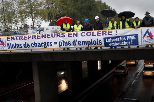 Les petits patrons avient déjà manifesté à Nantes