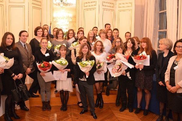 Les 25 lauréates du prix régional de la vocation scientifique