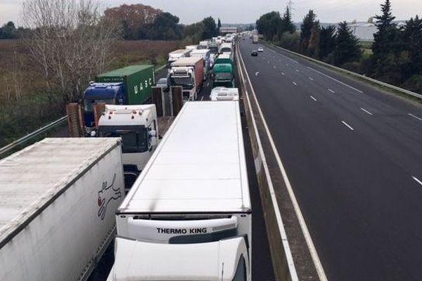 A 9 : Entrée Nimes-ouest bloquée et circulation paralysée dans le sens Montpellier Nîmes