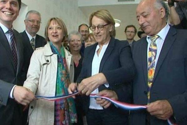 Marylise Lebranchu aux côtés de Michaël Vallet (à gauche) et de Maryline Simoné (au centre)