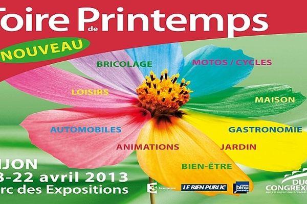 Le parc des expositions de Dijon accueille la 1re Foire de printemps du jeudi 18 au lundi 22 avril 2013.