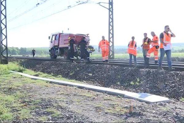 Incendie le long d'une voie SNCF, trafic coupé entre Dijon et Beaune
