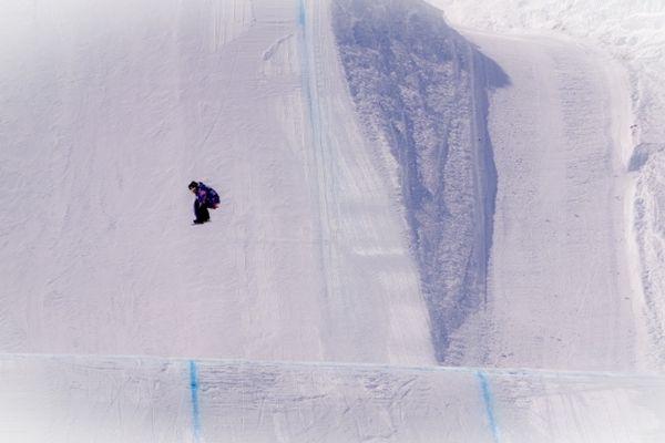 Tout petit, dans les modules du slopestyle.