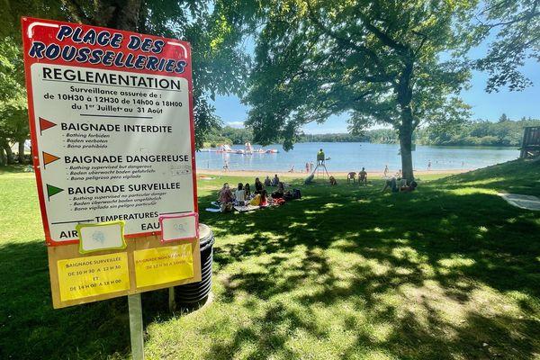 La plage des Rousselleries est un des lieux de baignades les plus prisés.