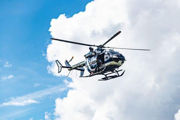 L'EC145 de la Gendarmerie de Haute-Savoie en vol - Photo d'illustration