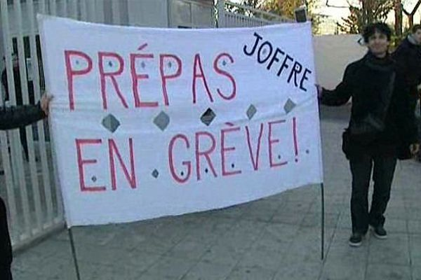 Montpellier - Les professeurs des classes préparatoires sont fortement opposés à la réforme prévue par Vincent Peillon - 9 décembre 2013.