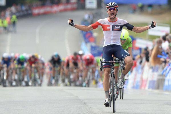 Victoire de Oliver Naessen (equipe IAM) dans la Bretagne classic Ouest-France épreuve Élite lors des 4 jours de Plouay - 28/08/2016