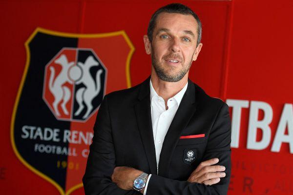 Nicolas Holveck lors de son arrivée au Stade Rennais le 28 mai 2020.