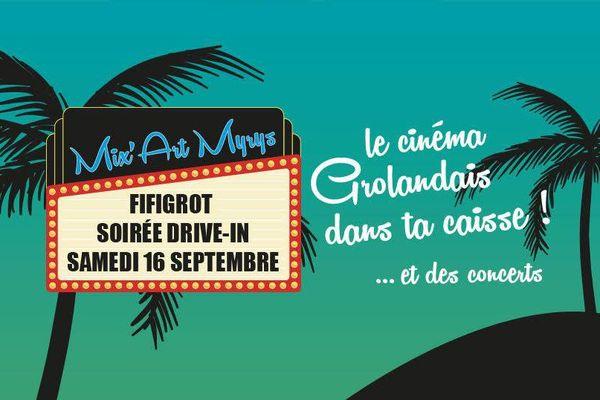 """Affiche de la soirée """"Drive-in"""" pour la 6ème édition du festival Fifigrot à Toulouse."""
