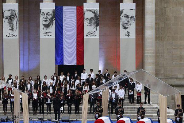 La cérémonie au Panthéon