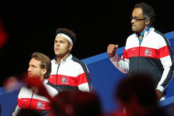Pouille, Tsonga et Noah lors de la finale de la Coupe Davis l'an dernier