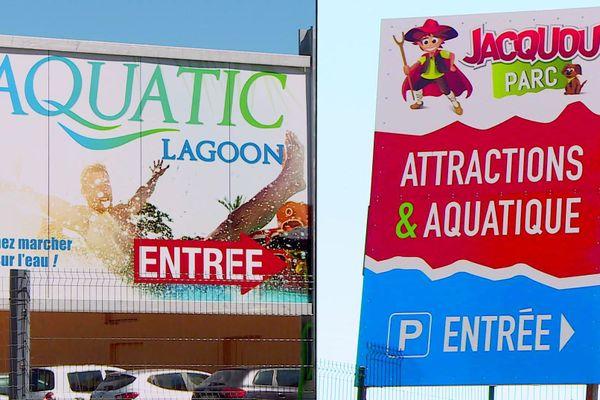 Deux parcs à vocation aquatique à quelques mètres l'un de l'autre à Journiac (24)