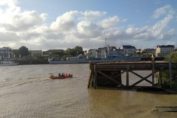 Un corps a été repêche en Loire quai Ferrand à Nantes, le 29 juillet 2019