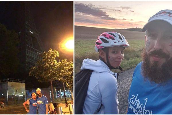 Yohann Dos Santos a couru de Reims à Paris, accompagné de Chloé, sa copine, au profit des enfants atteints de cancer