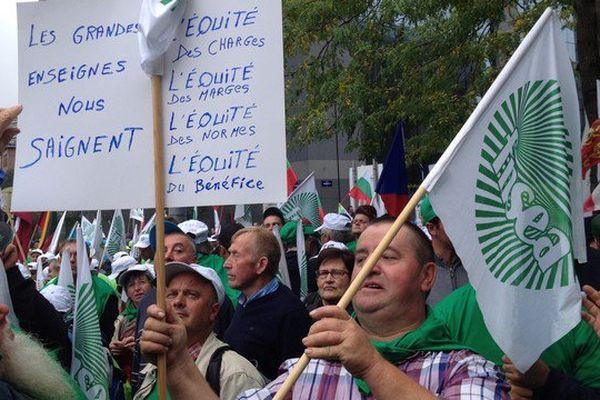 Environ 50 agriculteurs du Limousin ont fait le déplacement à Bruxelles.