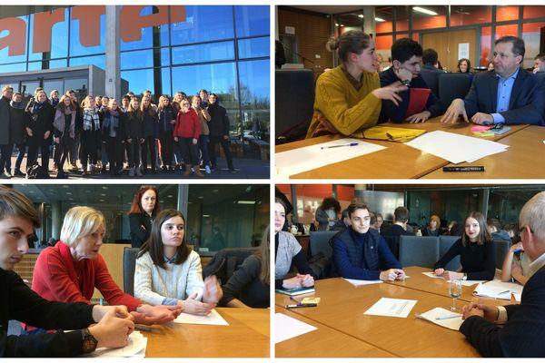 Des jeunes français et allemands à la rencontre de députés de l'APFA le 6 février dans les locaux d'Arte