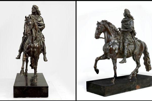 La réduction de la statue équestre de Louis XIV fait près d'un mètre de haut.